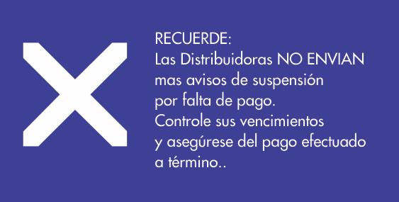 : Avisos de suspensión